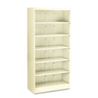 600 Series Steel Open Shelving, Six-Shelf, 36w x 16-3/4d x 75-7/8h, Putty HON626CNL