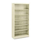 600 Series Steel Open Shelving, Six-Shelf, 36w x 13-3/4d x 75-7/8h, Putty HON626NL