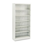 600 Series Steel Open Shelving, Six-Shelf, 36w x 13-3/4d x 75-7/8h, Light Gray HON626NQ