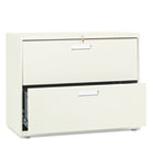 600 Series Two-Drawer Lateral File, 36w x 19-1/4d, Putty HON682LL