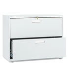 600 Series Two-Drawer Lateral File, 36w x 19-1/4d, Light Gray HON682LQ