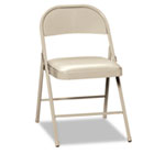 Steel Folding Chairs with Padded Seat, Light Beige, 4/Carton HONFC02LBG