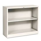 Metal Bookcase, Two-Shelf, 34-1/2w x 12-5/8d x 29h, Putty HONS30ABCL