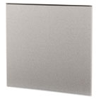Simplicity II Systems Fabric Panel, 43w x 42d, Alumina Gray/Black HONSP4243CE18