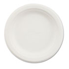 "Paper Dinnerware, Plate, 6"" dia, White, 1000/Carton HTMVACATECT"