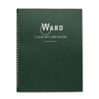Class Record Book, 38 Students, 9-10 Week Grading, 11 x 8-1/2, Green HUB910L