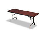 Premium Wood Laminate Folding Table, Rectangular, 60w x 30d x 29h, Mahogany ICE55214