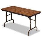Premium Wood Laminate Folding Table, Rectangular, 60w x 30d x 29h, Oak ICE55215