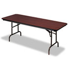 Premium Wood Laminate Folding Table, Rectangular, 72w x 30d x 29h, Mahogany ICE55224