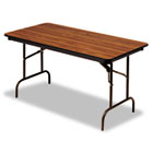 Premium Wood Laminate Folding Table, Rectangular, 72w x 30d x 29h, Oak ICE55225