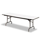 Premium Wood Laminate Folding Table, Rectangular, 72w x 30d x 29h, Gray/Charcoal ICE55227