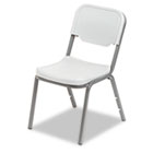 Rough N Ready Series Original Stack Chair, Resin, Platinum/Gray, 4/Carton ICE64013