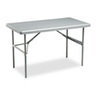 IndestrucTables Too 1200 Series Resin Folding Table, 48w x 24d x 29h, Charcoal ICE65207