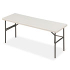 IndestrucTable TOO 1200 Series Resin Folding Table, 72w x 24d x 29h, Platinum ICE65383
