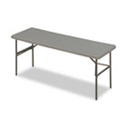 IndestrucTables Too 1200 Series Resin Folding Table, 72w x 24d x 29h, Charcoal ICE65387