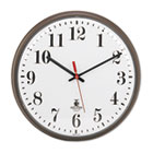 "Quartz Slimline Clock, 12-3/4"", Bronze, 1 AA Battery ILC67301002"