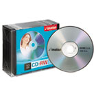 CD-RW Discs, 700MB/80min, 4x, w/Slim Jewel Cases, Silver, 10/Pack IMN40955
