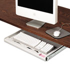 Standard Underdesk Keyboard Drawer, 24-1/4w x 15-1/3d, Light Gray IVR53000