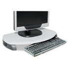 CRT/LCD Stand with Keyboard Storage, 23 x 13 1/4 x 3, Gray KTKMS280