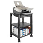 Mobile Printer Stand, Three-Shelf, 17w x 13-1/4d x 24-1/4h, Black KTKPS540