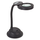 "Gooseneck Compact Fluorescent Desk Magnifier Lamp, 12-1/2"" High, Black LEDL9005"