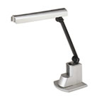 "Fluorescent Desk Lamp, Electronic Ballast, Folding Shade, 15-1/2""h, Silver LEDL9008"