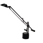 "Counter-Balanced Halogen Desk Lamp, 22"" Reach, Black LEDL9075"