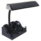 "Deluxe Organizer Fluorescent Desk Lamp, 16-1/2"" High, Black LEDL9083"