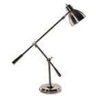 "Full Spectrum Cantilever Post Desk Lamp, 26"" High, Brushed Steel LEDL9099"