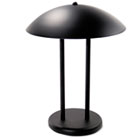 "Two-Pole Dome Incandescent Desk/Table Lamp, 16-1/4"" High, Matte Black LEDL9110"