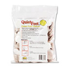 "Quiet Feet Deluxe Noise Reducers, 1 1/4"" dia, Circular, Beige, 100/Pack MAS88847"