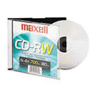 CD-RW, Branded Surface, 700MB/80MIN, 4x MAX630010