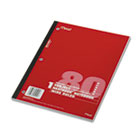 Single Subject Notebooks, Wide Margin/Rule, 8 x 10-1/2, WE, 80 Sheets/Pad MEA05222