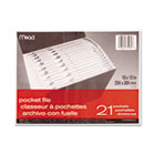 All-Purpose File, 21 Pockets, Letter, Assorted MEA35280