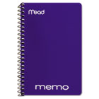 """Memo Book, College Ruled, 6"""" x 4"""", Wirebound, 40 Sheets, Assorted MEA45644"""