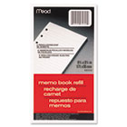 6-Ring Memo Book Refill, College Rule, 6HP, 6-3/4 x 3-3/4, 80 Sheets, White MEA46534
