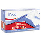 Business Envelope, 3 5/8 × 6 1/2, 20 lb, White, 100/Box MEA75100