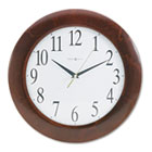 "Corporate Wall Clock, 12-3/4"", Cherry MIL625214"