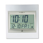 "TechTime II Radio-Controlled LCD Wall/Table Alarm Clock, 8-3/4""W x 1""D x 9-1/4""H MIL625236"