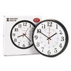 "Alton Auto Daylight Savings Wall Clock, 14"", Black MIL625323"