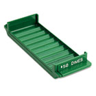 Porta-Count System Rolled Coin Plastic Storage Tray, Green MMF212081002