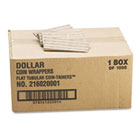Flat Tubular Coin Wrappers, Dollar Coin, $25, Pop-Open Wrappers, 1000/Box MMF216020001