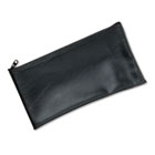 Leatherette Zippered Wallet, Leather-Like Vinyl, 11w x 6h, Black MMF2340416W04