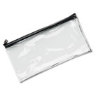 Leatherette Zippered Wallet, Leather-Like Vinyl, 11w x 6h, Clear MMF234041720