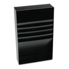 "Four-Compartment Desk Drawer Stationery Holder, Steel, 18"" Dept, Black MMF2712S18BK"