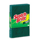 "Heavy-Duty Scour Pad, 3.8w x 6""L, Green, 3/Pack MMM223"