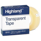 "Transparent Tape, 3/4"" x 1296"", 1"" Core, Clear MMM5910341296"
