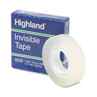 "Invisible Permanent Mending Tape, 1/2"" x 1296"", 1"" Core, Clear MMM6200121296"