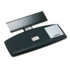 Knob Adjust Keyboard Tray With Standard Platform, 25-1/5w x 12d, Black MMMAKT60LE