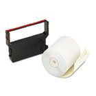 "Paper Rolls, Credit Verification Kit, 3"" x 90 ft, White/Canary, 10/Carton PMC09390"